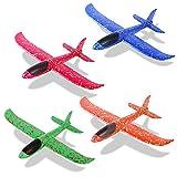 Sinwind 4 Stück 35cm Segelflugzeug, Flugzeug Spielzeug Kinder Schaum Segelflugzeug,...