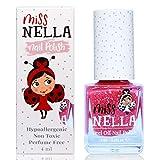 Miss Nella SUGAR HUGS abziehbarer Nagellack speziell für Kinder, rosa Glitzer,...