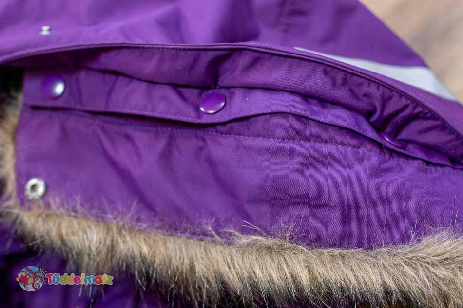Schneeanzug Didriksons Kaputze mit Knöpfen