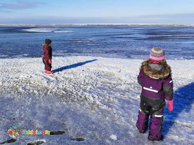 Schneeanzüge für Kinder im Test - Titelbild Kinder mit Didriksons und Reima Overalls