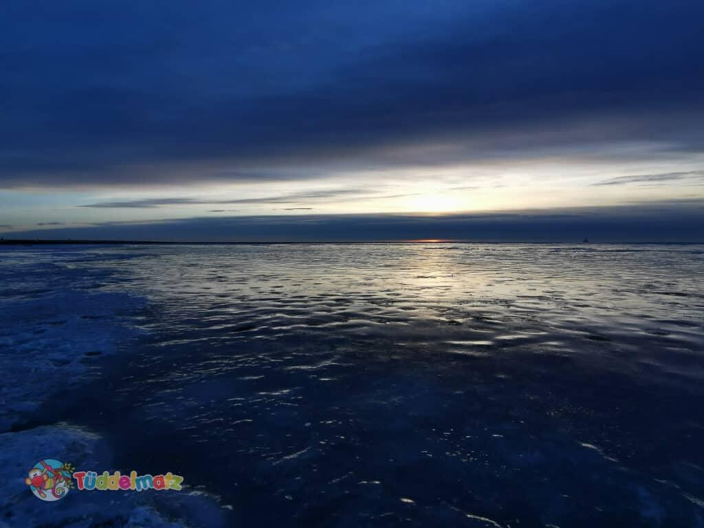 Sonnenuntergang an der Nordsee während der Mutter-Kind-Kur