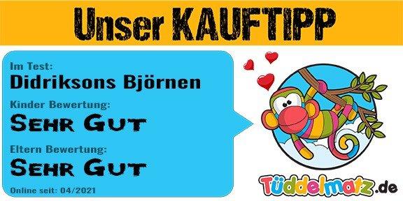 Unser Kauftipp für Kindergarten Kinder - Testsiegel Tüddelmatz