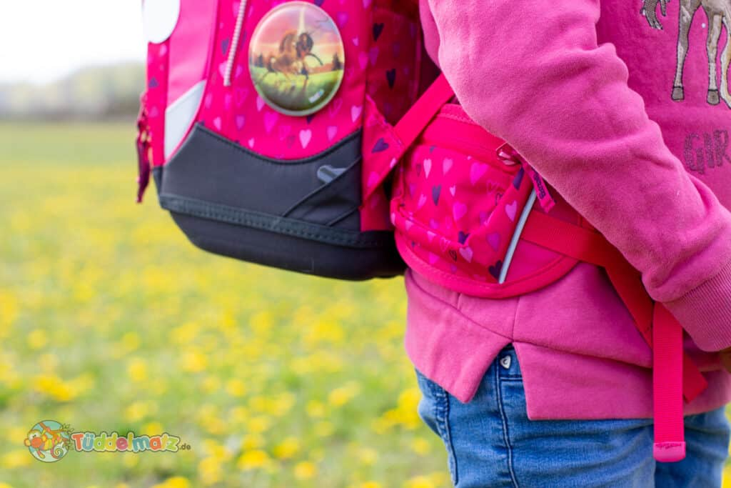 Ergobag Schulranzen Test: Beckengurt Nahaufnahme
