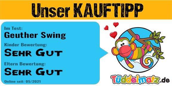 Testsiegel von Tüddelmatz - Kauftipp Geuther Swing